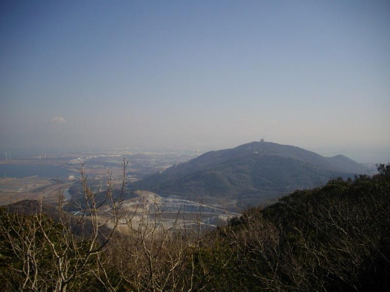 蔵王山が見える