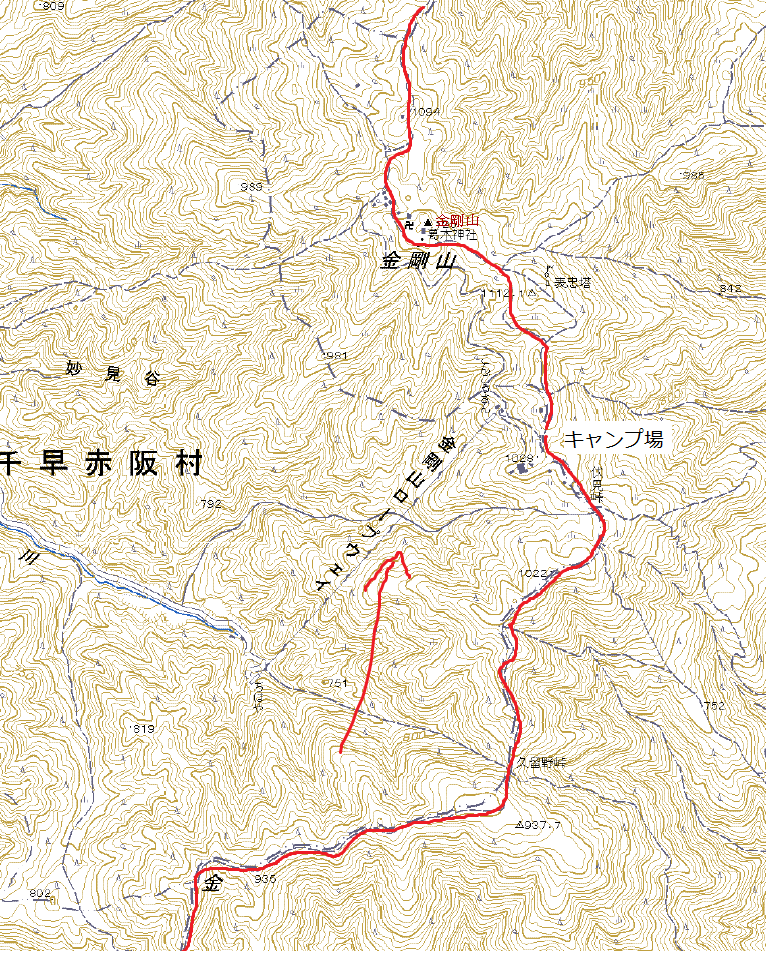 金剛山地縦走2