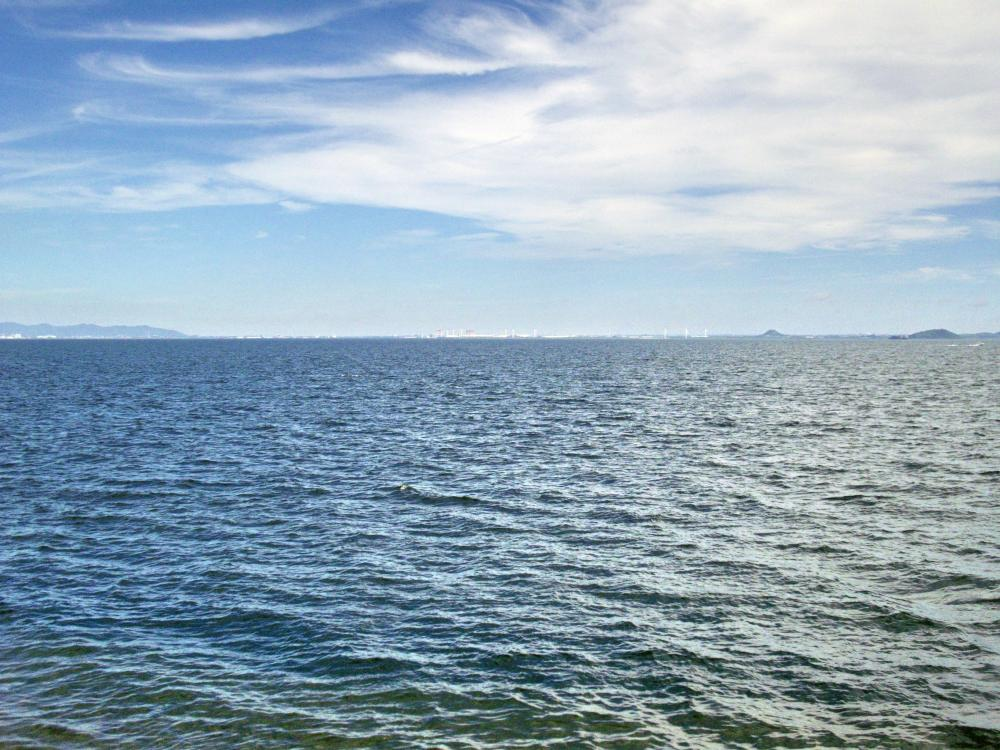 御前崎から見た三河湾