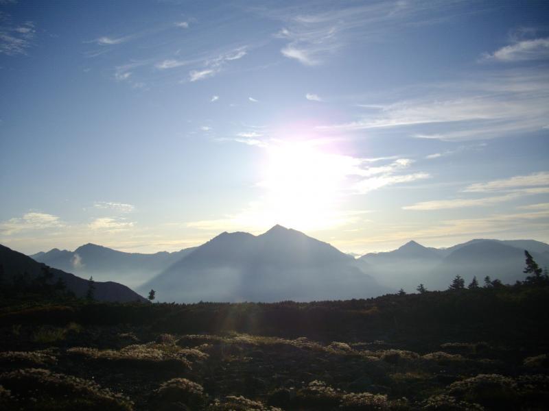 朝焼けの五色ヶ原