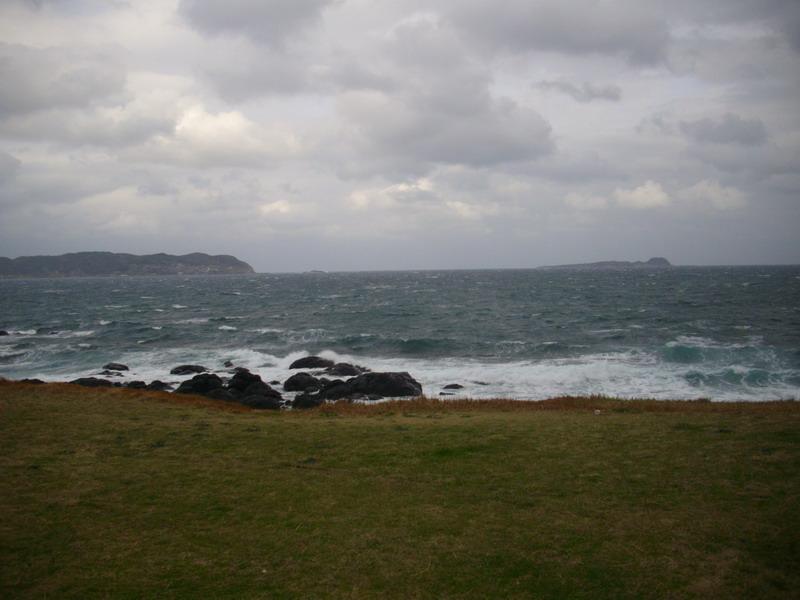 風が強すぎる岬