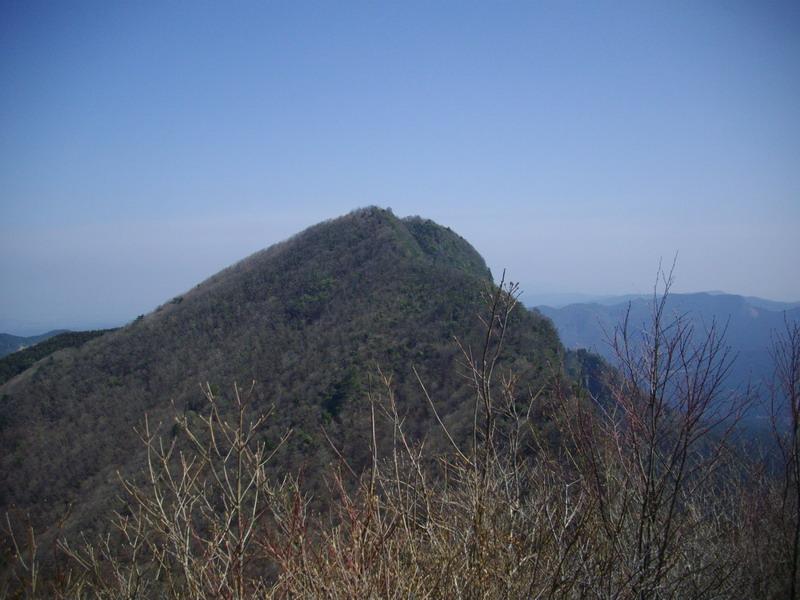 二本ボソから山頂を望む