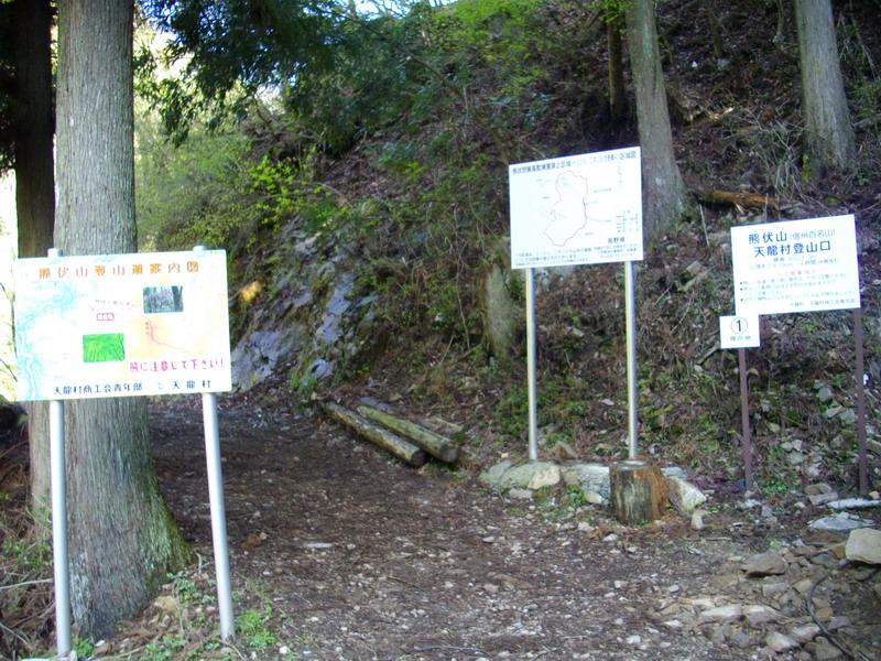 地図と登山口