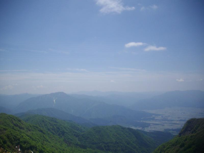 経ヶ岳から荒島岳方面