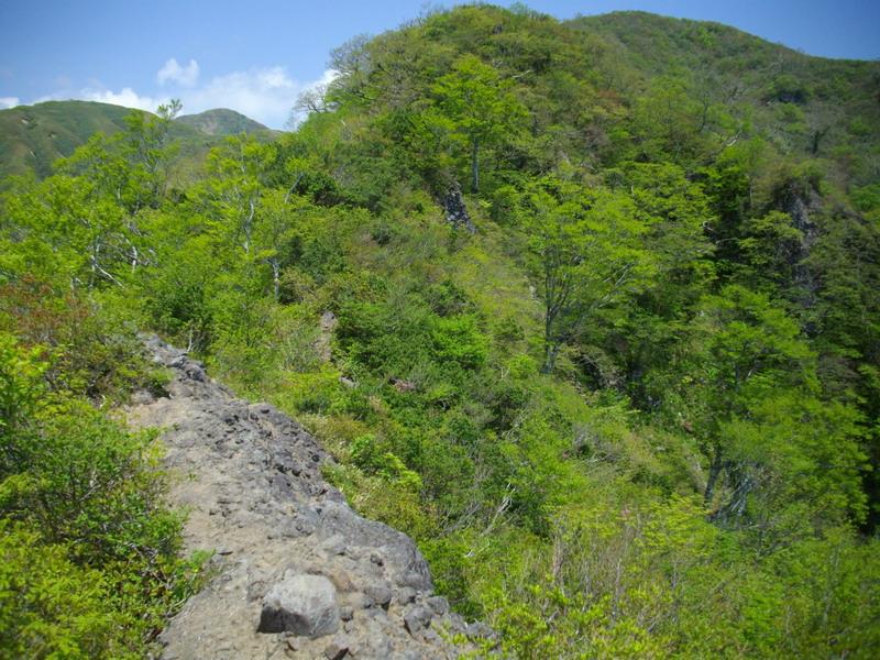 火山岩のヤセ尾根