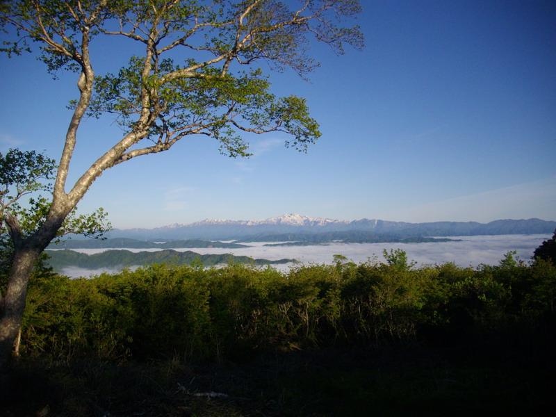 位山山頂公園からの白山